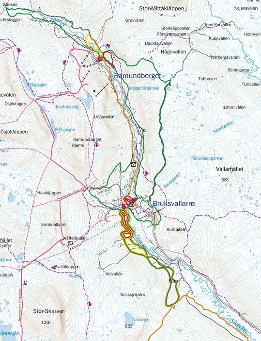 karta över bruksvallarna Spårkarta Bruksvallarna   Ramundberget   Fjällfrid AB karta över bruksvallarna